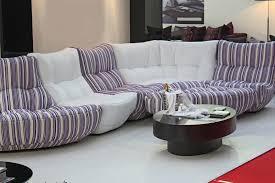 White-Purple-Stripped-Design-Of-most comfortable sofa 2016-Homesfeed