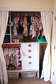 an organized baby girl closet