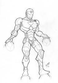 Iron Man Boceto By Pollomaxx On