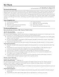 Template Healthcare Resume Template Management Administration