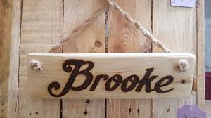 bedroom wooden door sign