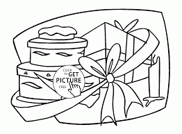 Many Birthday Gifts Coloring Page For
