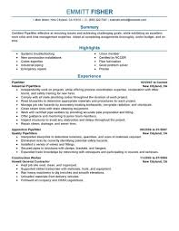 Best Pipefitter Resume Example From Professional Resume Writing Service