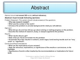 How To Write A Literature Review Abstract Samples
