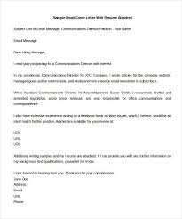 Simple Email Cover Letter Cover Letter Format And Bussines Letter