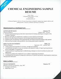 Entry Level Chemical Engineering Resume Samples Best Of Chemical