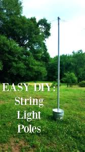 How To Hang String Lights In Backyard Without Trees Enchanting How To Hang String Lights In Backyard Without Trees Light Post Poles