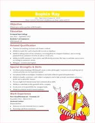 fast food cook resumes mcdonalds job duties fast food cook resume skills example examples
