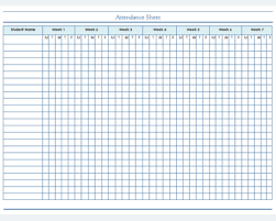 Sample Attendance Sheets Attendance Sheet Template For Students And Employees