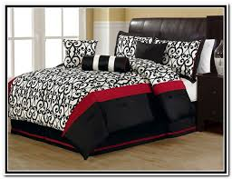 Awesome Red Black And White Bedroom Ideas Cheap Best Ideas About Gold With  Regard To Red And Black Queen Comforter Set ...
