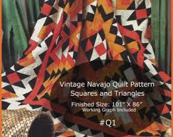 Navajo pattern | Etsy & Navajo Quilt Pattern Vintage Pieced Quilt 101Inches X 86Inches Vintage Quilt  Pattern #Q1-PDF Adamdwight.com