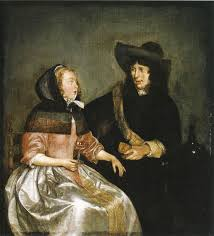 gerard ter borch young couple drinking wine