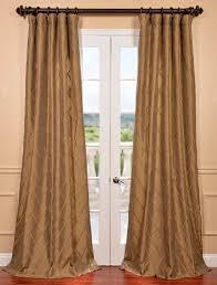 alexandria gold taffeta faux silk curtain