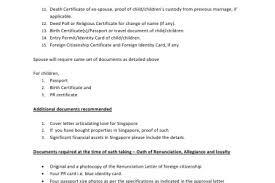 34 Recent Sample Cover Letter For Singapore Citizenship Application