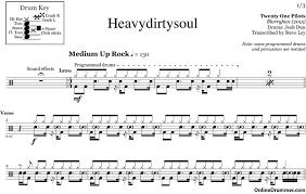 drum sheet heavydirtysoul twenty one pilots drum sheet music