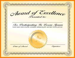 Award Of Excellence Certificate Template 100 certificate award templates weekly template 93