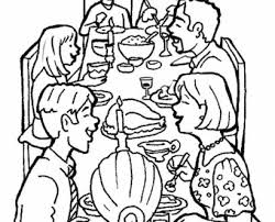 Small Picture thanksgiving family dinner coloring pages family dinner coloring