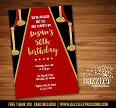 Printable Hollywood Red Carpet Birthday Invitation Movie Night