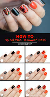 Tutorial: Halloween Spider Web Nail Art