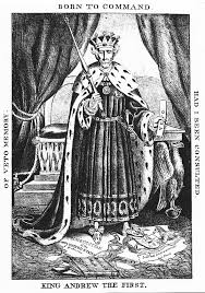 spoils system andrew jackson. A Political Cartoon Showing Andrew Jackson Dressed In Traditional King\u0027s Clothing. He Wears Crown Spoils System