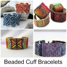 9 bold colorful beaded cuff bracelets to make