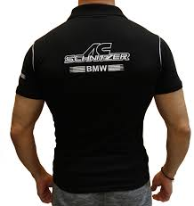 Bmw Schnitzer Polo Shirt Hand Crafted By Auto Moto Fans