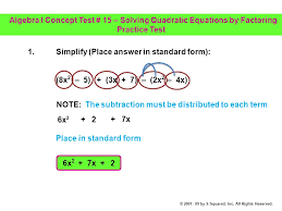 simplify place answer in standard form