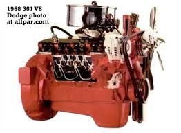 the mopar chrysler dodge plymouth b series v8 engines 350 361 v8