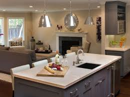 Kitchen Beautiful Kitchen Island Lighting With Grey Lacquered Wood