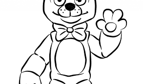 Fresh Golden Freddy Fnaf Coloring Pages Printable Free Coloring Book