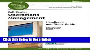 Call Center Operations Download Call Center Operations Management Handbook And Study Guide