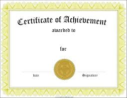 Blank Achievement Certificates Sociallawbook Co