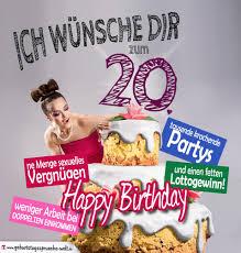 Gluckwunsche Zum 20 Geburtstag Wohnideen