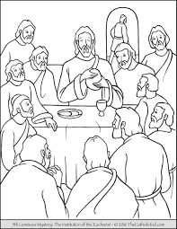 Small Picture The 5th Luminous Mystery Coloring Page The Institution of the