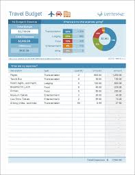 Budget Planning Template Excel Travel Budget Worksheet Travel Cost Estimator