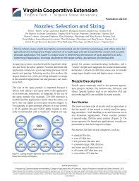 Nozzles Selection And Sizing Publications And Educational