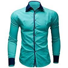BUSIM Men's <b>Long Sleeve</b> Shirt Casual Solid Color British Business ...
