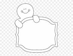 gingerbread man clipart black and white. Fine Black Black And White Gingerbread Man Sign Clip Art  Holding In Clipart