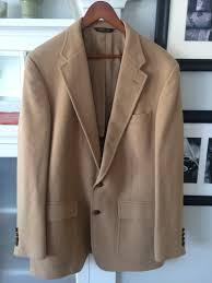 gant for burkhardt s 100 camel hair 2 on mens blazer sportcoat size 42 long