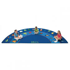 fun with phonics classroom rug semi circle 6 8 w x