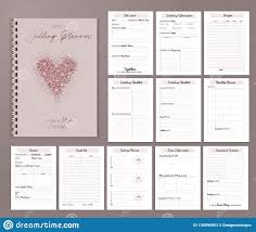 Printable Wedding Planner Wedding Planner Printable Design With Checklists Important