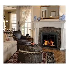 Large Tubular Fire Screen  Fire Screens  Plow U0026 HearthBlack Fireplace Doors