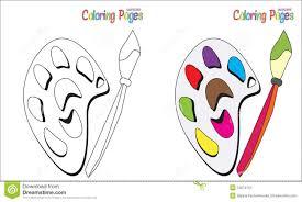 Palette De Page De Livre De Coloriage Image Stock Image Du