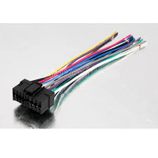 sony car audio radio headunit stereo 16 pin wire wiring harness 16 pin harness adapter for most sony stereos