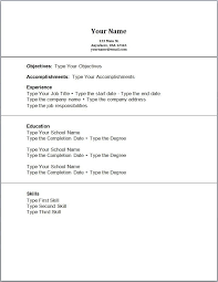 Resume With No Work Experience Template Sample Resume Letters Job