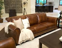 what colour cushions go with brown leather sofa