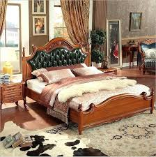 Modern Wooden Bedroom Furniture. Modern European Bedroom Furniture Solid  Wood Bed Fashion Carved Genuine Leather