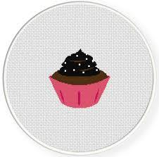 Charts Club Members Only Chocolate Cupcake Cross Stitch Pattern