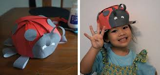 ladybird bug hat easy diy paper hat great for crazy hat day and parties