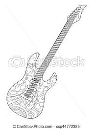 al instrument electric guitar coloring book vector for s